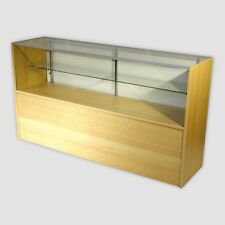Retail Glass Display Case Half Vision Maple 5' Showcase