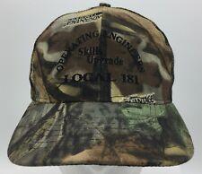 Local 181 Union of Operating Engineers Skills Upgrade Camouflage Adjustable Hat
