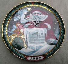 Bing & Grondahl Santa Claus Collection Collector's Plate 1992 Santa on the Roof