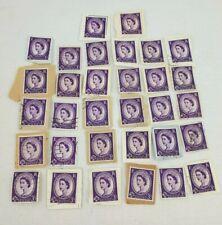 GB 3d POSTAGE REVENUE Violet STAMP With Postcard