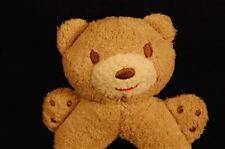 """Old Navy Brown Bear replacement  5"""" Plush Rattle Ring Baby Stuffed Animal  Lovey"""