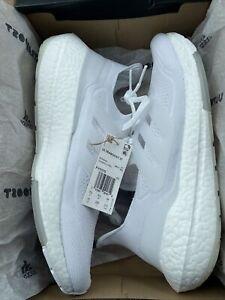 adidas ULTRABOOST 21 PRIMEBLUE Mens Sneakers Size 10 Cloud White/Grey $180