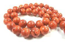 rote Schaumkoralle 10mm rund 1 Strang Kugel Perlen