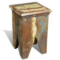 Reclaimed Wood Elephant Table/Stool Hocker Solid Wood Rustic Western Lamp Table