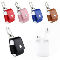 Wireless Earphone Charging Case Protector Bag Anti-lost Metal Clip Fit AirPods