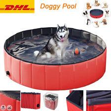 Hundepool Faltbar Swimmingpool Doggy Pool Hunde Plantschbecken Rot, Blau,Grün