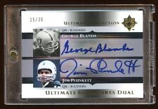 RAIDERS NATIONS JUM PLUNKETT / GEORGE BLANDA DUAL AUTOGRAPH /35 MINT 2005 UD