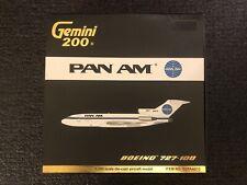 Rare Gemini 200 Pan AM Boeing 727-100 N4619 G2PAA2113 1:200 Die Cast GeminiJets