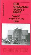 OLD ORDNANCE SURVEY MAP CARDIFF PENGAM & ROATH 1916