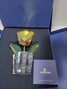 "RARE Swarovski Happy Flower - 7"" Yellow Tulip LARGE Size #662519 original box"