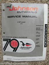 1979 Johnson Service Repair Manual 2 HP, Model 2R79 - FREE SHIPPING