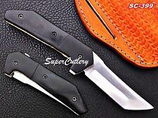 Custom Handmade Steel D-2 steel Folding Knife with Micarta Sheet Handle