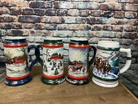 1990-1993 Budweiser Clydesdale Horse Hitch Stein Susan Sampson 4 in Lot