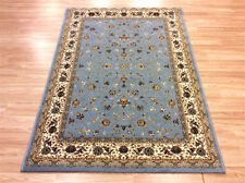 Oriental QUALITY SKY BLUE Traditional Persian Style Wool Rug 120x170cm-50%OFF