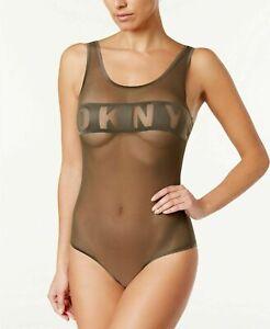 SIZES / COLORS DKNY Mesh Logo-Band Bodysuit DK7007