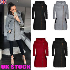 Womens Thicken Warm Winter Hooded Coat Zipper Parka Overcoat Jacket Outwear 6-18