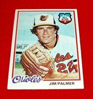 1978 BASEBALL JIM PALMER  TOPPS CARD # 160 NM