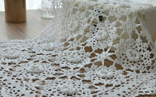 """18"""" Hand Crocheted White Doily Floral Table Cloth Wedding Runner"""