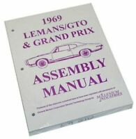 1968 1969 GTO Lemans Tempest Judge Factory Assembly Manual
