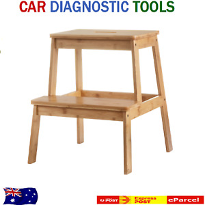 Bamboo Step Stool sturdy design & smooth finish to access hard to reach places.