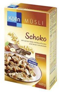 2 x KÖLLN MÜSLI CHOCOLATE OATS BREAKFAST CEREALS FROM GERMANY KOELLN MUESLI