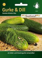 Einlegegurken 'Delikatess' + Dill 'Blattreicher', Saatband, Gurken Samen,  42060
