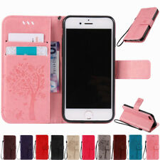 For iPhone 8 7 6 6s Plus 5s Flip Leather Stand Card Slot Wallet Phone Case Cover