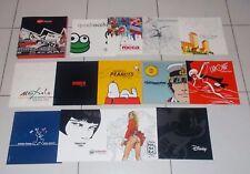 13 Brochure MYCROM Art DIABOLIK Guido Crepax Hugo Pratt Disney Snoopy Nespolo