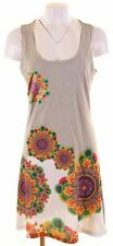 DESIGUAL Womens A-Line Dress Size 14 Large Grey Cotton  JG19