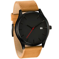 Unisex Watch Men's Stainless Steel Quartz Sport Analog Band Leather Wrist Watch