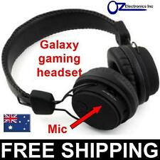 Rechargeable Gaming Headphones Galaxy wireless bluetooth BLACK FREE POSTAGE