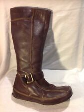 Hush Puppies Brown Mid Calf Leather Boots Size 6