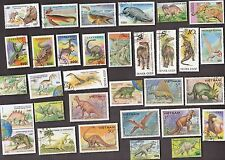 50 All Different DINOSAURS & PPREHISTORIC ANIMALS on Stamps