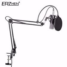 Studio Condenser Microphone Kit Boom Arm Stand Shock Mount Pop Filter Broadcast