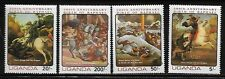 Uganda 364-67 Art of Raphael Mint NH