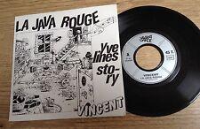 45 tours Vincent La java rouge / Yvelines story dédicacé pochette BD 1984 EXC+