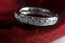 Wedding Band  1 ct vvs Diamonds 14k White Gold for Men and Woman with Diamante