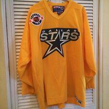 Vintage CCM Dallas Stars NHL Hockey Jersey Yellow Mens XL Made in Canada