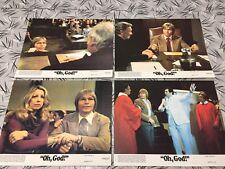 Oh God 1977 Original Issue 8x10 Lobby Cards Set Of 4 Burns Denver Garr