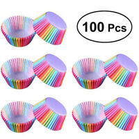 Cupcake Liner Baking Rainbow Cup Paper Muffin Case Cake Box Tray Mold 100-500pcs