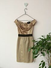 Dolce & Gabbana D&g Gold Nude Corset Bodycon Fitted Dress Size Italy 38 Uk 6