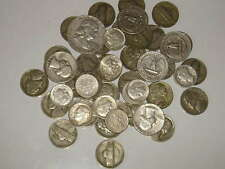 (8oz) 227g. 1/2lb Nice Silver Coins! Mixed Dates From 1940's-1964! Read Listing