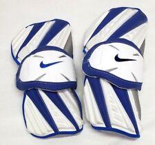 New Nike Huarache Large White/Blue Lacrosse Protective Arm Guards