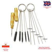 11pc Spray Gun/ Airbrush Cleaning Tool Kit. Assorted Brushes And Needles.