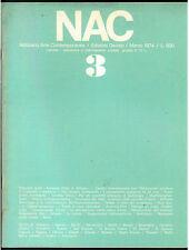 NAC ARTE CONTEMPORANEA MARZO 1974 N. 3 BIENNALE MILANO GUTTUSO PRAMPOLINI