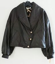 NWT Vintage GIANFRANCO FERRE Brown Leather Women Blazer Jacket Coat, $2,960,S-M