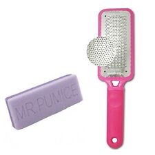 Microplane Foot File Rasp Colossal Callus Remover Pink Color+ Mr Pumice Ultim...