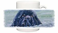 NEWFOUNDLAND DOG NEW DESIGN MUG OIL PAINTING PRINT SANDRA COEN ARTIST PRINT