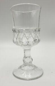 """EAPG US GLASS No 15032 (OMN) aka Teardrop & Thumbprint 4-3/8"""" Clear Wine C.1895"""