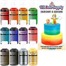 Cake Color 12-Kit Candy Decor Supply Sweet Candy Baking Pastry Party Cafe Art .